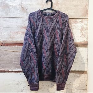 colourful knit sweater // Vintage
